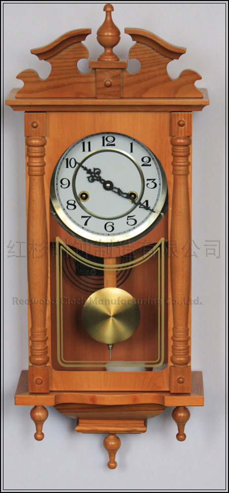 Wooden wall clock with pendulum magielinfo