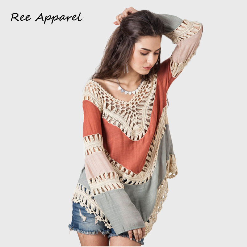 2016 Sexy Crochet Cover Up Women Summer Beach wear Cover Ups Swimsuit Smock Cover Up sexy Striped shirt Blusas(China (Mainland))