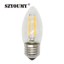 Buy SZYOUMY Filament Led Bulbs E27 LED Candle Lamp 2W 4W 110-220V C35 Filament Candelabra Edison Filament Type Bulb Lighting for $15.31 in AliExpress store