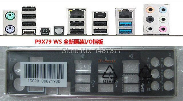 Free shipping new computer motherboard original I/O shield for Asus P9X79 WS backplate(China (Mainland))