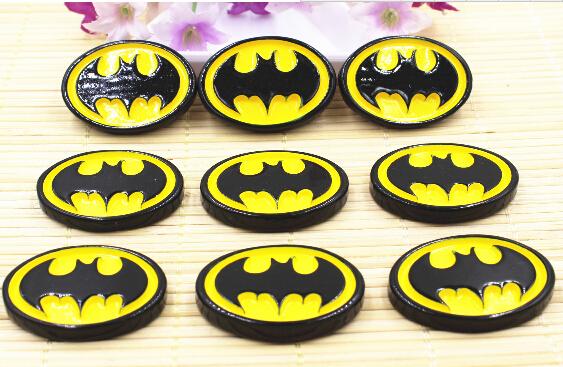 Free shipping 30 pcs/lot,35*25mm Flat back resins batman resin(China (Mainland))