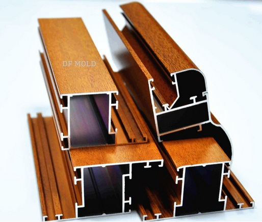 Wood Grain Aluminium Sliding Extrusions Profiles for Window & Door Use. Good Quality(China (Mainland))