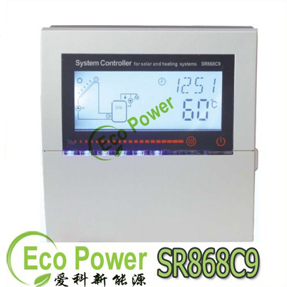 SR868C9 Solar Heating System Controller Updated version of SR868C8 LCD display of heating degree delta T recooling and so(China (Mainland))