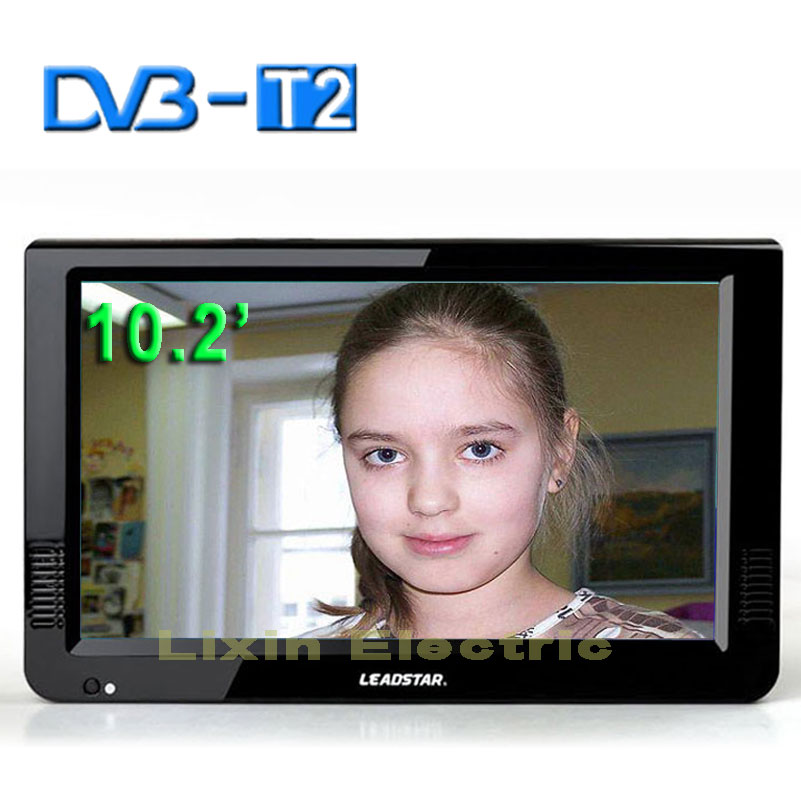 2016 New 10.2 Inch Digital And Analog TV Receiver And TF Card And USB Audio And Video Playback Portable DVB-T2 Television(China (Mainland))