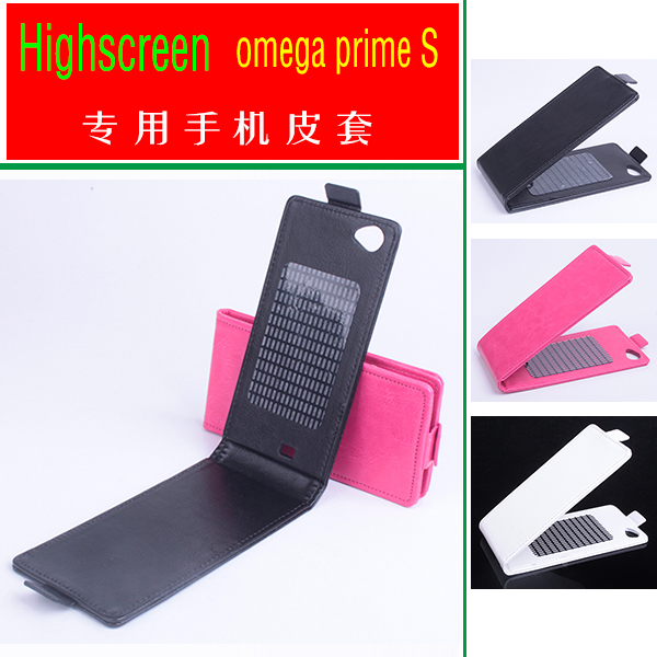 2015 Good Quality Flip Leather Case Cover Highscreen omega prime S Original Up&Down 3 Colors Stock - Shenzhen UOU Technology Co., Ltd. store