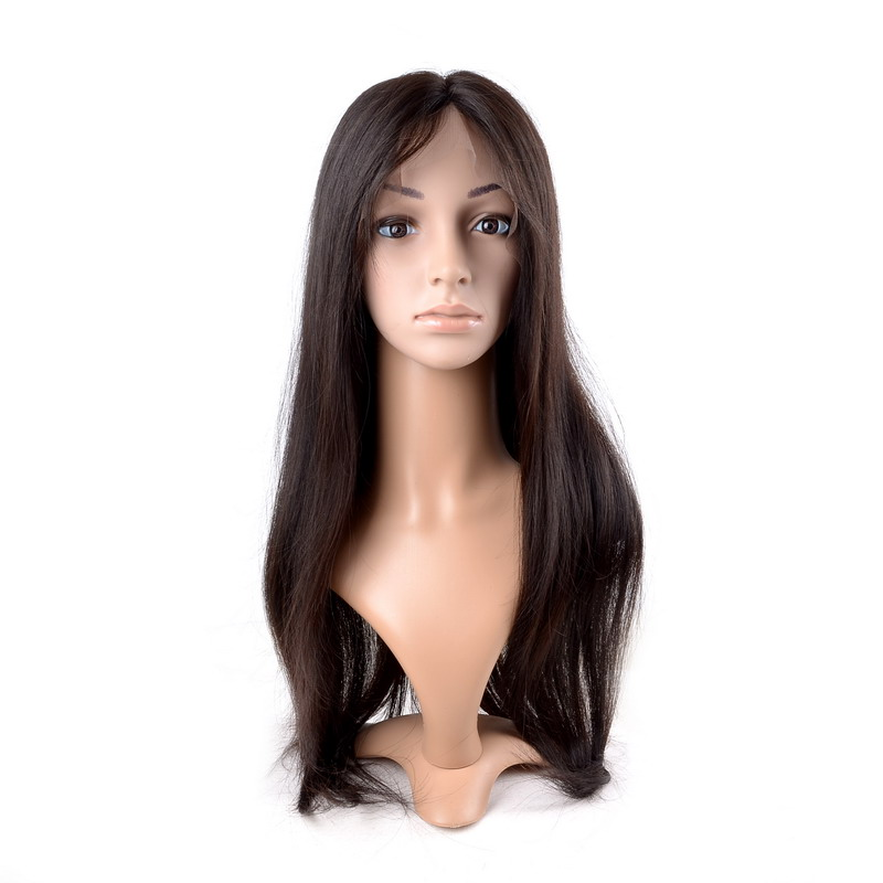 Brazilian Lace Front Human Hair Wig 100% Natural Straight Lace Front Wigs Virgin Hair For Black Women Straight Weave Wig(China (Mainland))