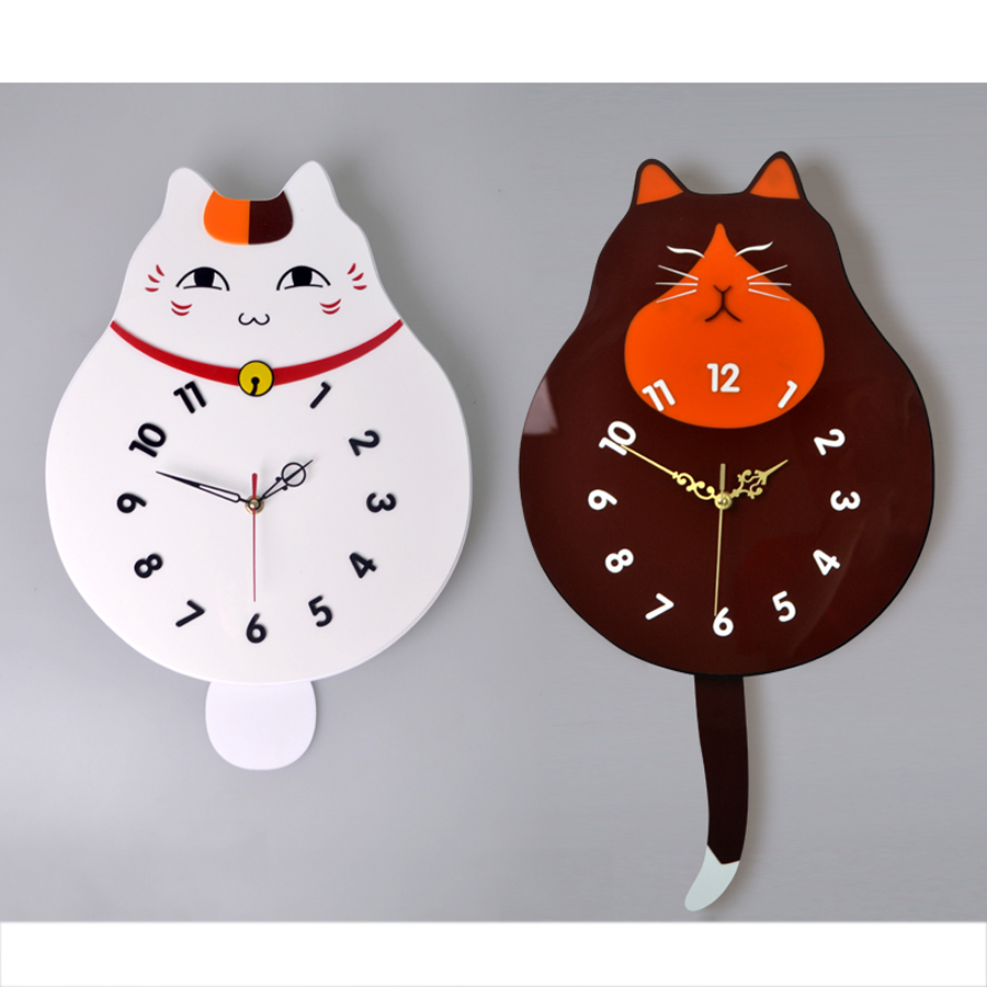 chats horloge promotion achetez des chats horloge. Black Bedroom Furniture Sets. Home Design Ideas