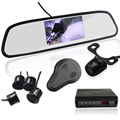 Auto Parking Sensor with Rear View Mirror 4 3 inch LCD Display Parktronic sensor 4 car