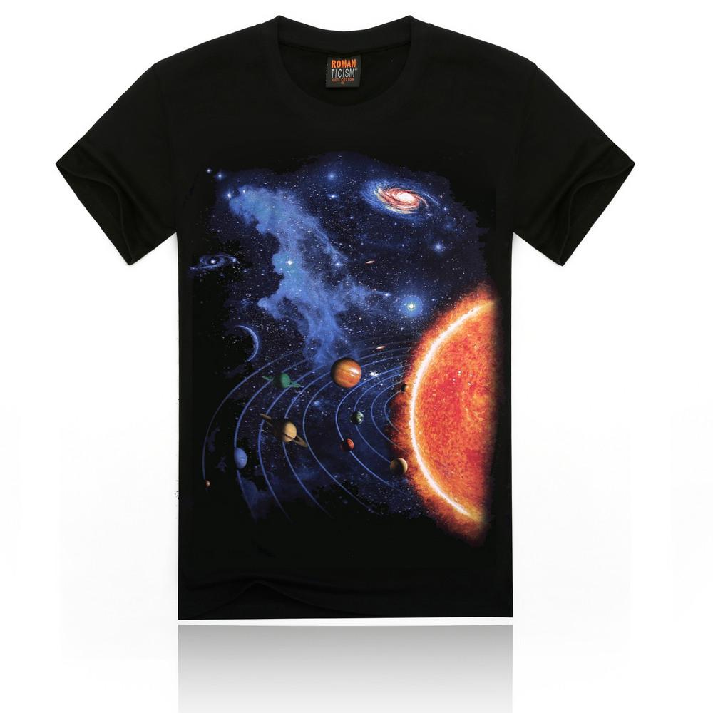 2015 men 39 s short sleeve custom design star pattern 3d for T shirt design sleeve print