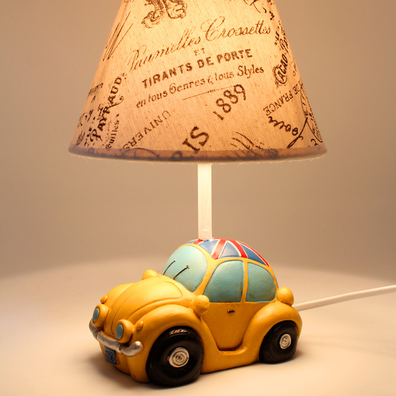 rustic vintage mini car table lamp child dimming. Black Bedroom Furniture Sets. Home Design Ideas