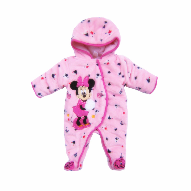 Baby Footies Jumpsuit Hat font b Shoes b font Hooded Baby Infant Snowsuits Outfits Boys Girls