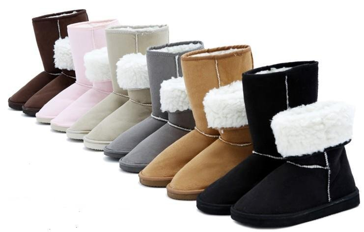 2014 HOT ! 7 color Fahion 25cm Height Winter women snow boots for Lady(China (Mainland))