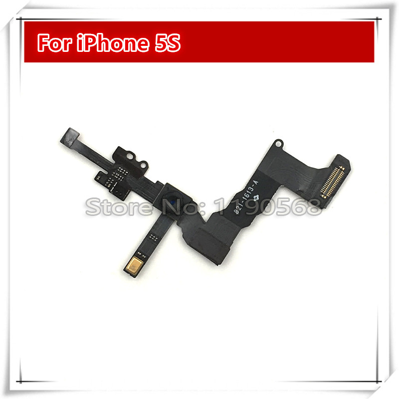 10pcs/lot NEW Front Camera with Sensor Flex Cable Ribbon for iPhone 5S 5GS free shipping(China (Mainland))