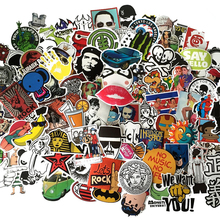 500PCS/Pack Random music film Vinyl Skateboard Guitar Travel Case sticker lot pack Car decal Cute Stickers(China (Mainland))
