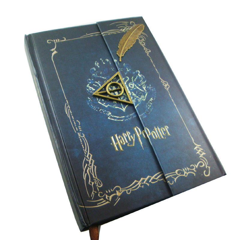 blue Harry potter deathly hallows feather design Vintage Diary Planner Journal Agenda Notebook - LiuxingGARDEN store