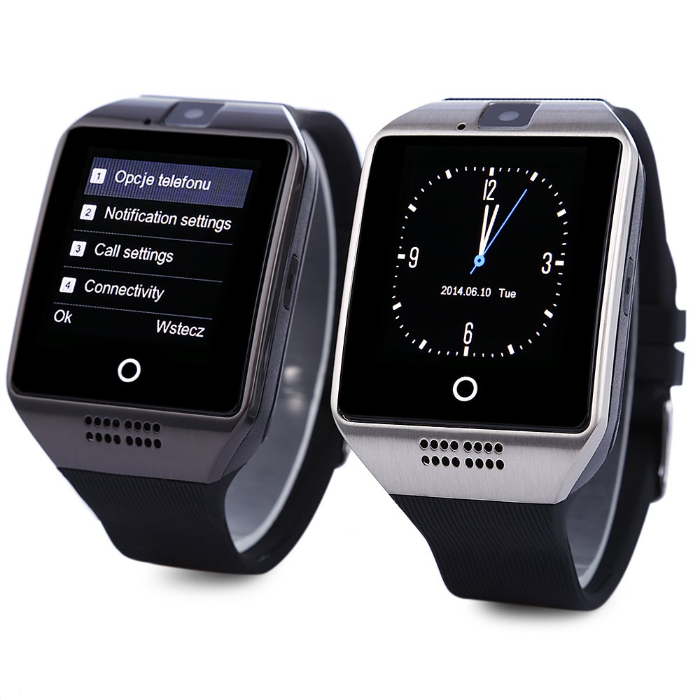 Q18 1.54 Inch Smartwatch Phone MTK6260A Mobile Wristwatch 360MHz 2.5D Screen Pedometer Sedentary Reminder NFC BT Camera Watch(China (Mainland))