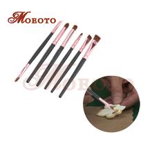 2016 Newest fondant cake coloring brushes 6pcs/set,fondant decoration tools,kitchen accessory ,two color tool setfree shipping(China (Mainland))