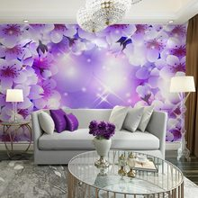 Custom home decor wall papier murals papel de parede 3d flowers wallpaper mural for living room bedroom tv sofa background decal(China (Mainland))
