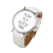 Hot Sale Watch Women Brand Fashion Relojes Mujer NOW IS A GOOD TIME Womens Band
