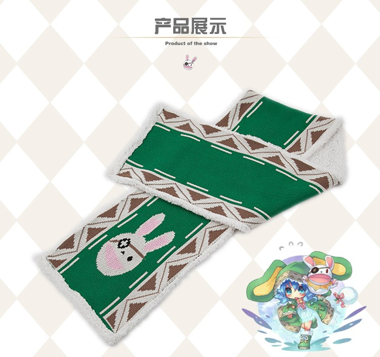 Anime DATE A LIVE Figure Yoshino Thicken Fury Fleece Scarf Winter Warmth in stock free shipping NEW