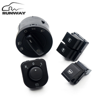Buy Factory direct sales! New Headlight switch Mirror swicth Window Switch 4PCS / SET VW Caddy Jetta Golf 5 MK5 V Puls Passat B6 for $23.75 in AliExpress store