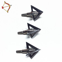 3pcs/lot Arrow Head Broadhead with 100% solid steel 100 grain Broadhead 4 Blade Archery Arrow For Compound Bow and arrow