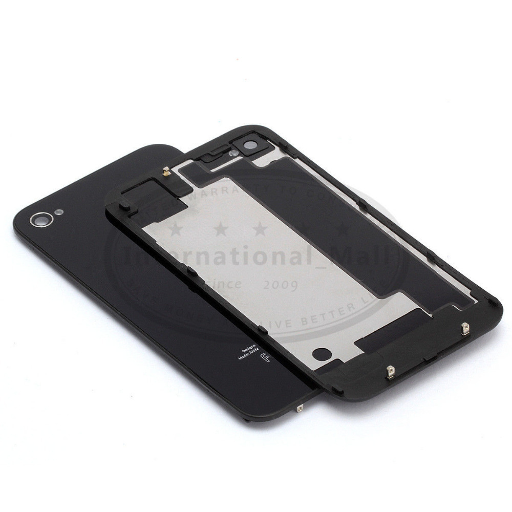 New Back Glass For iPhone 4S Black A1387 Battery Cover Back Door Replacement(China (Mainland))