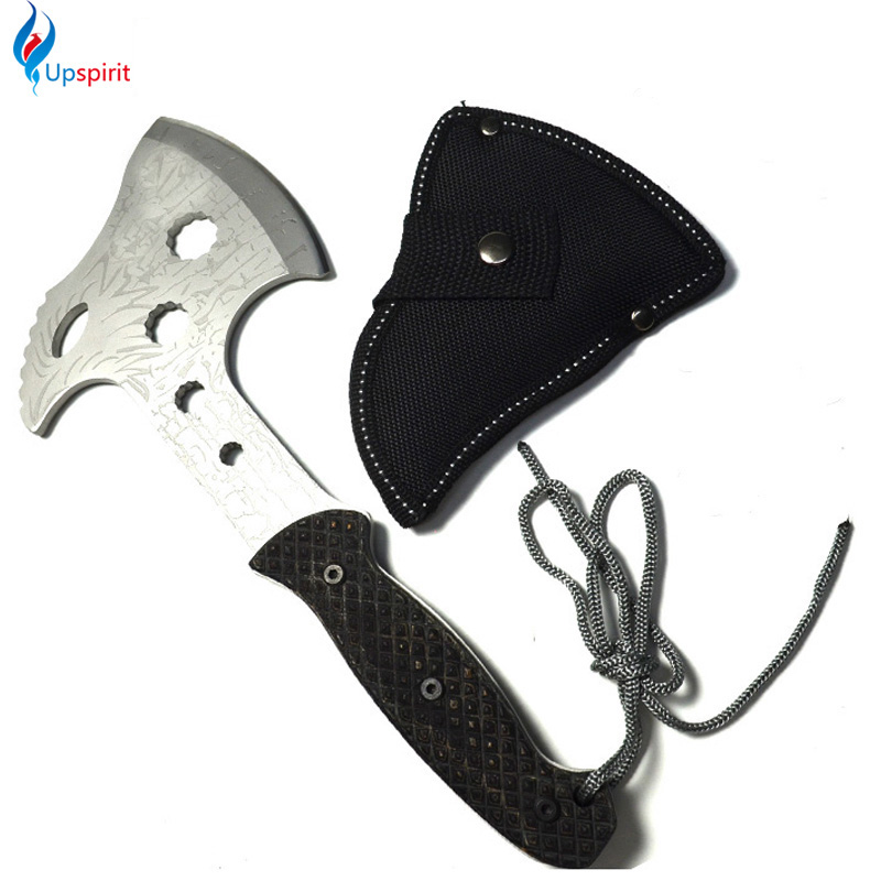 High Quality Tactical Survival Machete Axe Stainless Steel Hand Tool Hunting Hatchet Garden Supplies Outdoo Survival Hatchet(China (Mainland))