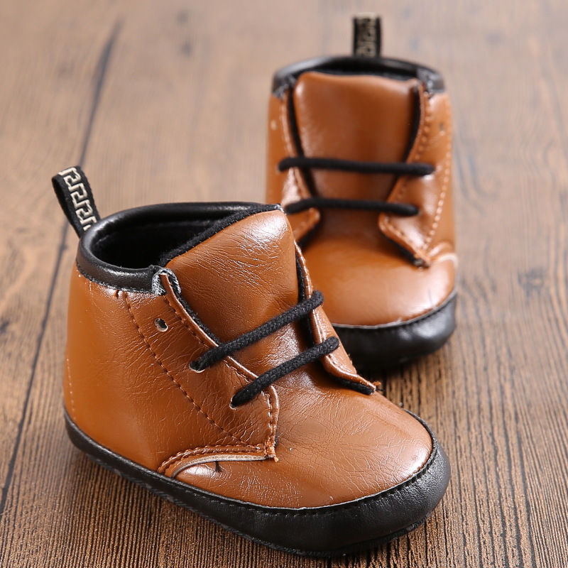 2015 Winter Baby Boy Martin Boots First Walkers brown PU Leather  Newborn Baby Shoes Prewalker  Infant Soft Bottom Toddler Shoes<br><br>Aliexpress