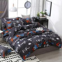 3/4pcs/Set Simple Style Yellow Dandelion Plant Comforter Bedding Set Bed Linen Linings Duvet Cover Set Pillowcases Home Texile(China)