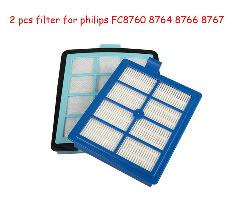 1pc Intake vents HEPA Filter+1 pc Exhaust vents filter for philips FC8766 FC8767 FC8760 FC8764 vacuum cleaner parts Replacement(China (Mainland))