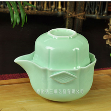 Celadon pot cup ceramic tureen cup teacup Large tea blue and white porcelain bowl