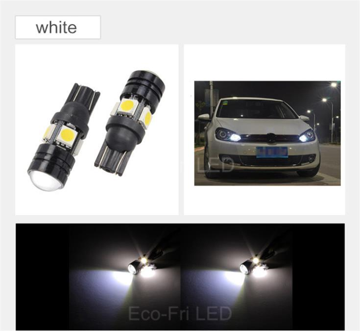 2x High Power White Ice Blue 168 W5W T10 Led with Projector Lens Car Styling Light