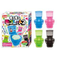 2pcs/set Amazing Moko Moko Mokolet 2 Candy Toilet Toy Set Japanese Candy In A Toilet DIY Toy Set(China (Mainland))