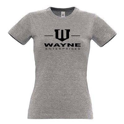 Wayne Enterprises Womens T Shirt Batman Bruce Wayne Gotham City(China (Mainland))