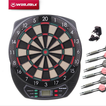 Winmax Indoor Sport Scoring board Dartboard Set LED Display 6 darts Electronic Dart Board Display 21 Games Voice+ Soft tipDarts(China (Mainland))