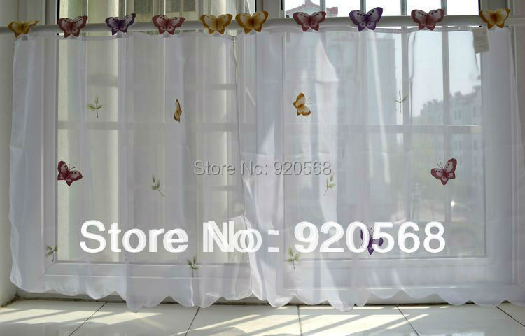 Keuken Gordijn 5 : Vlinder gordijnen latest vitrage vhg vlinder per stuk wit with