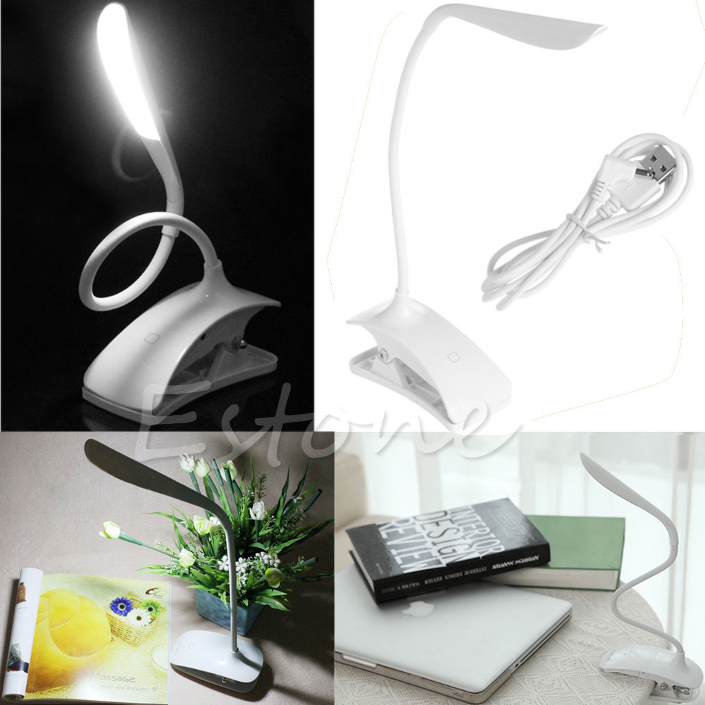 Rechargeable Touch Sensor 14 LED Clip-On Desk Table Dimmable Reading Light Lamp(China (Mainland))