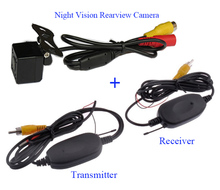 2.4GHz Wireless Transmitter & Receiver and Night vision Rearview CCD Camera For Car DVD Player  different Parking Monitor(China (Mainland))