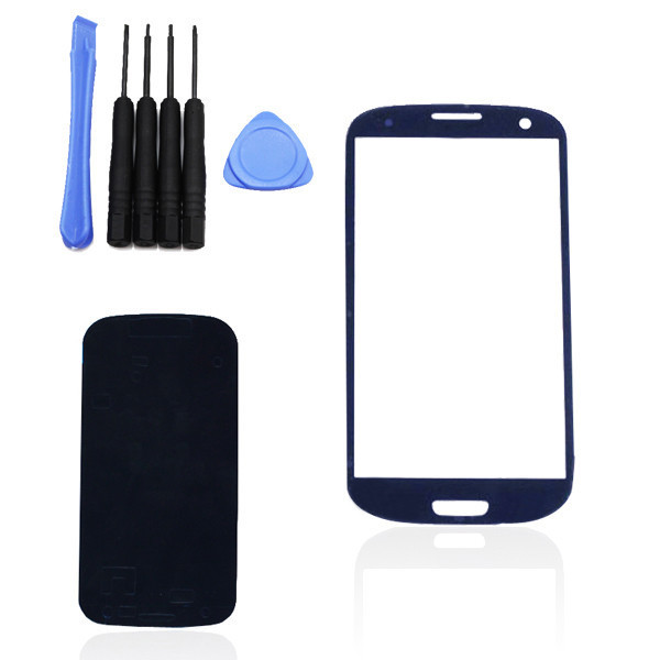 New The best price at Ali ,For Samsung Galaxy S 3 III i9300 Blue Outer LCD Touch Screen Lens with Free Tools Parts Replacement(China (Mainland))