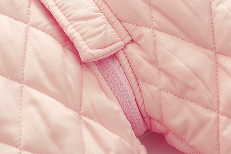 Скидки на Новый 2016 осень и зима девочка хлопка толстые, розовые рога пряжки с длинными рукавами С Капюшоном комбинезон ползунки одежда Теплая пальто куртки