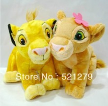 Free shipping 1pair 35cm13.7inch The Lion King plush soft toys,simba and nala plush toys(China (Mainland))