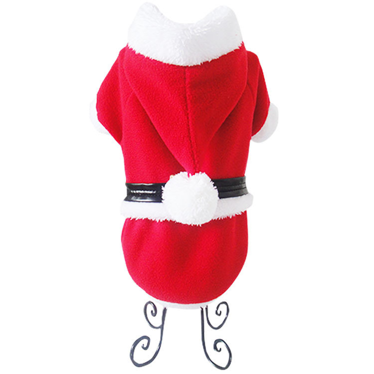 New Classical Christmas Santa cosume Pet cosplay pajama Hoodies Pet winter clothing puppy/kitty warm apparel Free shipping(China (Mainland))