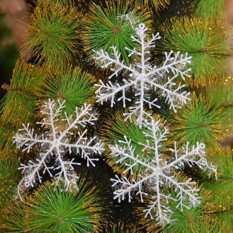 302015 Christmas Decoration 11/15cm Snowflake Xmas Hanging Ornaments Tree Windows Snow Flakes Decorations  -  Bravo!! store