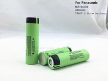 3PCS 2015 New Original 18650  3.7 v 3400 mah Lithium Rechargeable Battery for Panasonic NCR18650B batteries+ Free shipping