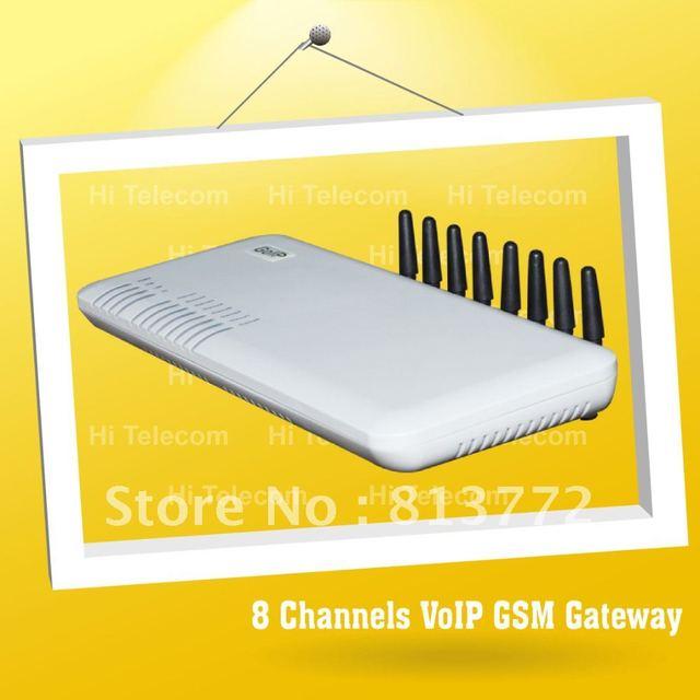 Hot sale!Voip call termination gsm voip gateway goip 8 port-GoIP 8