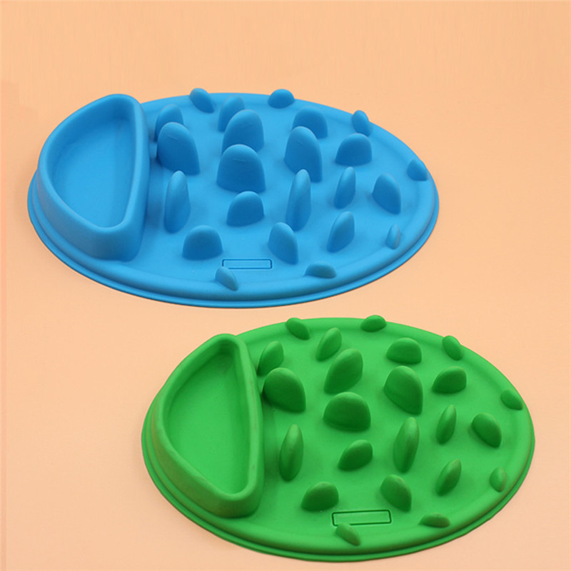 Free Shipping New Silicone Anti Choke Interactive Slow Feeding Feeder Bowl For Dog Cat Pet Cute Promote Digestion Health(China (Mainland))