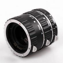 Silver Metal Macro AF Auto Focus Extension Tube Set For Canon EOS 550D 650D 1100D 1200D DC373 Rebel XTi Rebel XSi Lens Adapter