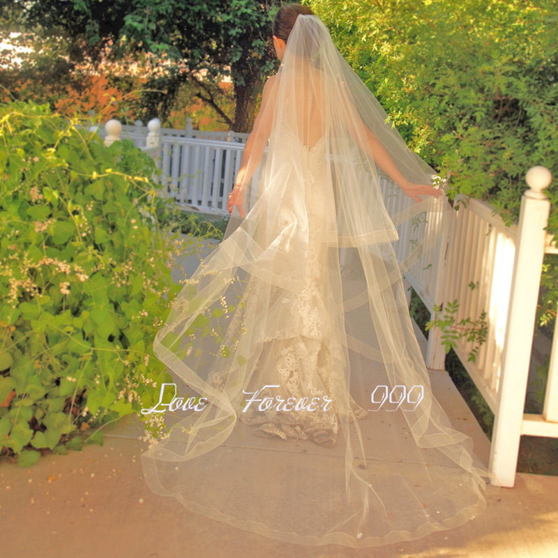 veil with comb wedding veil long bridal veil of bride cathedral veil