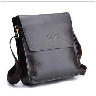 Wholesale Free shipping fashion Men's bags leather handbags business single men shoulder bag leather satchel